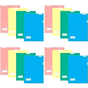 プラス クリアホルダー すっぽりホルダー A4 見出し付 色込8枚 2冊セット 88-187×2