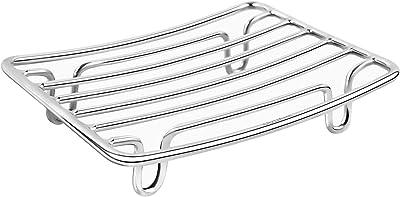 Guukar家庭用浴室ステンレス鋼石鹸皿ホルダー、シンクバスタブシャワー石鹸ホルダー、メッシュデザインには、石鹸が溶けないようにする自己排出機能があります。