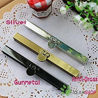 5PCS 11 cm / 4.3 inch Straight Channel Wallet Frame Diva Purse Frame Wallet Clasp (with Screws) (Gunmetal)