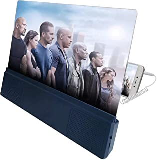 Screen Magnifier Screen Amplifier Screen Magnifier 12 Inch 3D HD Movie Video Amplifier, All Of The Smart Phone For The Wire Control Sound Desktop Stand Screen Magnifying Amplifying Glass