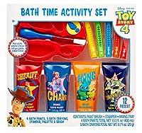 Centric Beauty Toy Story 4 お風呂タイムアクティビティセット ウォーターペイント バスクレヨン スタンパー パレットミキシングトレイ ブラシ付き 12点セット 男の子と女の子用 お風呂の楽しみ