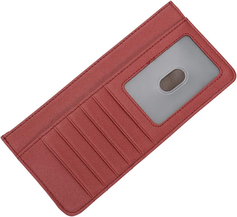 Women's Credit Card Wallet Slim Holder with Zip Long Free Shipping New New York Mall
