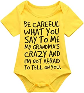 Clearance Sale 0-24 Months Newborn Infant Baby Kids Girl Boy Letter Print Romper Jumpsuit Sunsuit Outfits Clothes
