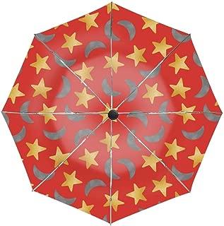 Stars Pattern Umbrella Easy Touch Anti UV Unbreakable Windproof Compact Sport Umbrellas
