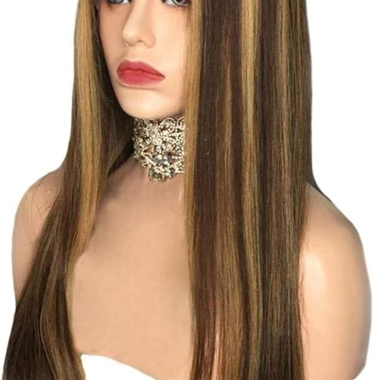 XZGDEN Hair Genuine Replacement Wig Straight Blond 13X4 Lace Fort Worth Mall Honey