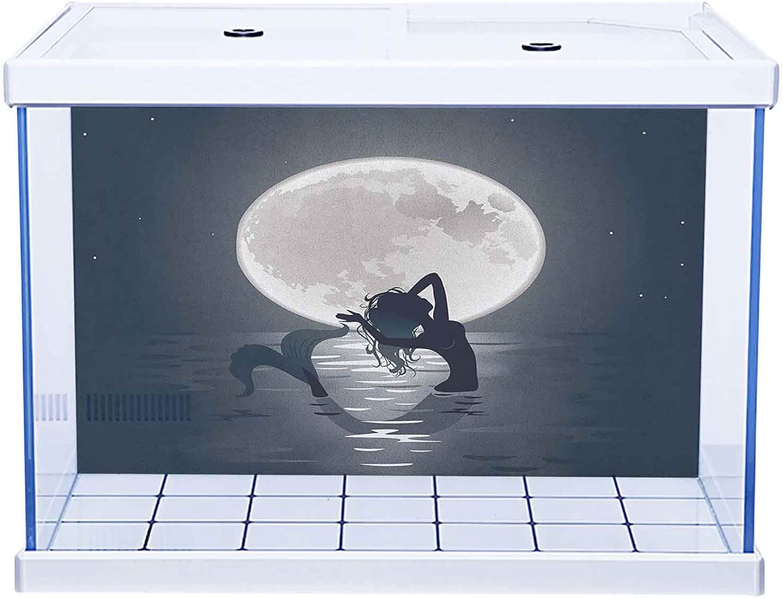 SUZM Rare Home latest Aquarium Décor Mermaid Underwater Backgrounds Cartoon
