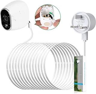 LANMU Adaptador de corriente impermeable para exteriores para cámara de seguridad Netgear Arlo HD (reemplace las baterías de litio CR123A) 26 pies (8m) Blanco