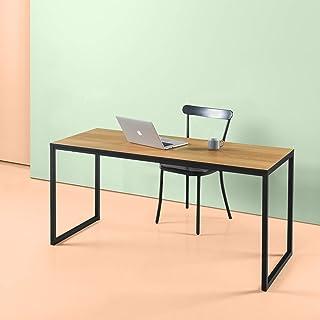 ZINUS Jennifer 160 cm Computer Laptop Table Desk | Home Office Study Desk | Easy Assembly | Metal Frame | Brown