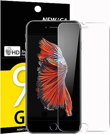 NEW'C Verre Trempé pour iPhone 6, 6S, Film Protection écran - Anti Rayures - sans Bulles d'air -Ultra Résistant (0,33mm HD Ultra Transparent) Dureté 9H Glass