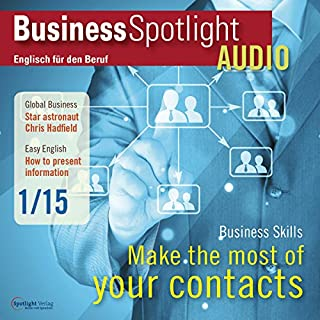 Business Spotlight Audio - Making the most of business contacts. 1/2015 Titelbild