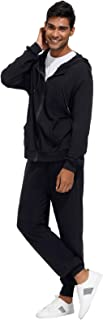 Zexxxy Men's Casual 2 Piece Outfits Full-Zip Hoodie and Sweatpants Jogging Suit