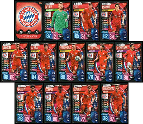 MATCH ATTAX 19/20 Bayern Munich Full 13 Card Team Set - UK Edition