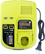 Elefly Dual Chemistry Replacement Charger for Ryobi P117 Charger ONE+ P118 P119, Charges..