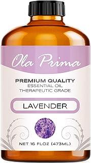 Ola Prima 16oz - Premium Quality Lavender Essential Oil (16 Ounce Bottle) Therapeutic Grade Lavender Oil
