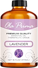 Ola Prima 16oz - Premium Quality Lavender Essential Oil (16 Ounce Bottle) Therapeutic Grade Lavender Oil