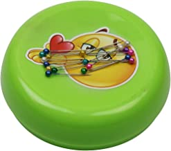 Magnetic Pin Cushion Sewing Pin Holder with 100 Pearlized Head Straight Pins green DS091001