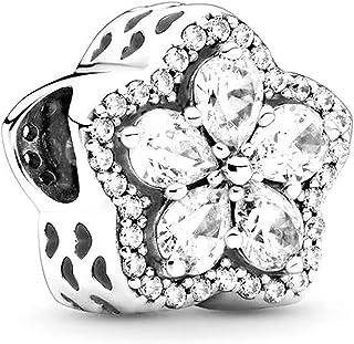 TopLAD Sparkling Leveled Hearts Charm fits Pandora Charm Bracelets 925 Silver DIY Fashion Jewellery