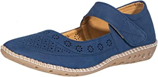 Sharon by Khadim's Women Blue Casual Mary Jane Shoe