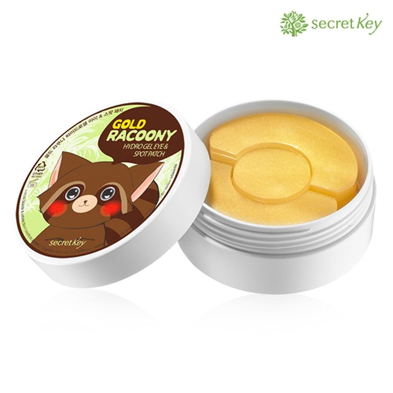 いつもジェスチャー誰もSecret key シークレッドキー ゴールド?ラクニ?ハイドロゲル?アイ?アンド?スポット?パッチ-アイ60P+スポット30P- 90g (Gold Racoony Hydrogel Eye & Spot Patch) [並行輸入品]
