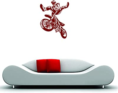 DecorVilla PVC Vinyl, Self Adhesive Bike Riding time Wall Sticker and Decal (58 x 78 cm)