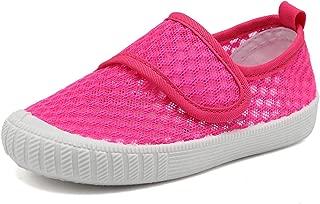 CIOR Boys & Girls' Breathable Mesh Slip-on Sneakers Sandals Water Shoe for Running Pool Beach Toddler/kidsSK909, B.Pink, 24