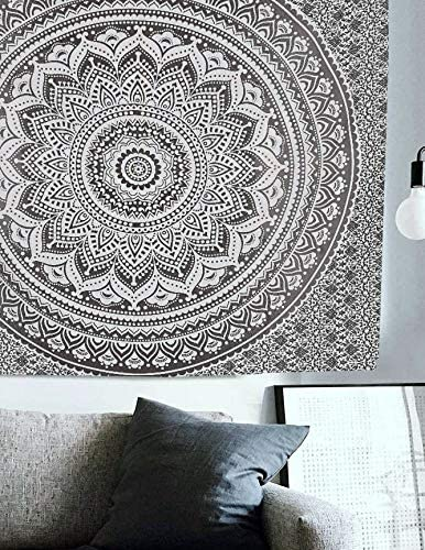 Hippie Boston Mall Mandala Ombre Tapestry Wall Maditation Indian - Hanging B Today's only
