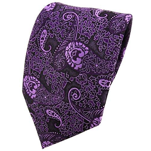 TigerTie - Corbata - morado violeta lila Paisley modelada