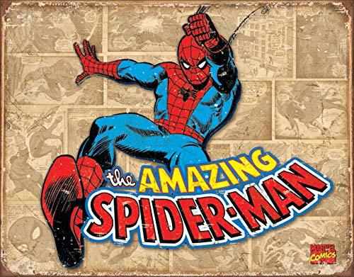 Price comparison product image Desperate Enterprises Marvel Comics Spider-Man Retro Panels Tin Sign