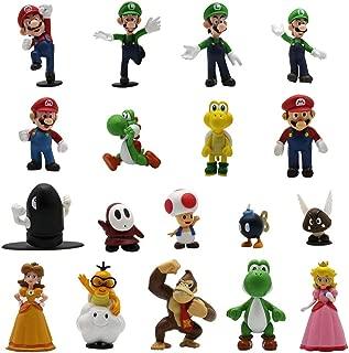 Maggift 18 Pcs PVC Super Mario Brothers Figures Set Children's Toy