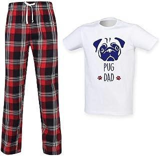 f2cead71df4ab 60 Second Makeover Limited Hommes Carlin Papa Écossais Pyjama Ensemble Fête  des Pères Pet Vêtements Cadeau