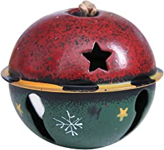 Forestime Color Metal Jingle Bell Decoration Star Snow Sleigh Bells Christmas Tree Ornament Xmas Accessories (Red)