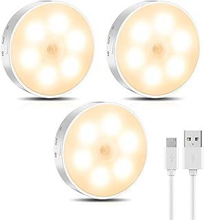 Motion Sensor Night Light,Eocean Led Night Light,Rechargeable Warm Closet Lights,Stick On Lights for Hallway, Bathroom, Be...
