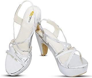 LookShine Women's Open Toe Ankle Chunky Platform Dress Heel Sandal