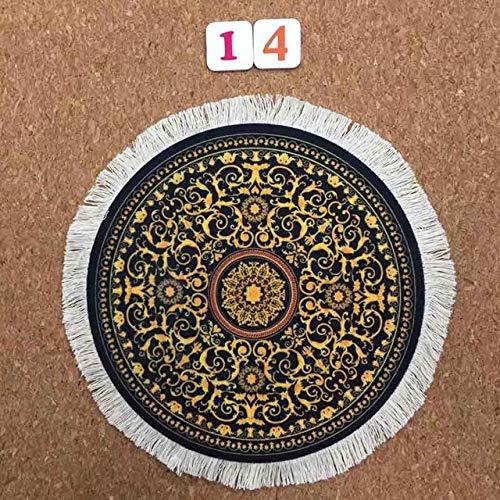 Oluyng Mauspad für Klavier, Musik, Symbol, Gummi, rutschfest, für Laptop, rund, Coaster Spiel, Mauspad, Persan, 200 x 200 / 220 x 220 mm, matt 22 x 22 cm, Persian 14.