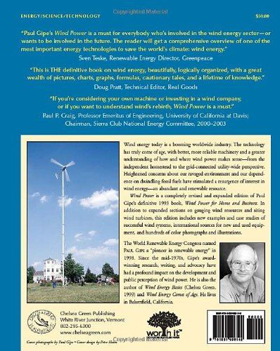 Wind Power: Renewable Energy for Home, Farm and Business 1