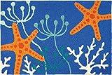Jellybean Starfish Royal Blue Coastal Indoor/Outdoor Machine Washable 21