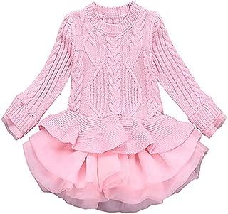 Girl Winter Long Sweater Dress
