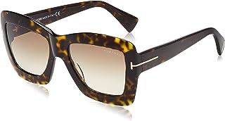 Tom Ford Women's Sunglasses Square FT0664 Havana/Black