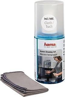 Hama Gel de nettoyage (pour écran LCD / TFT avec chiffon en microfibre, 200 ml) Gris/Bleu