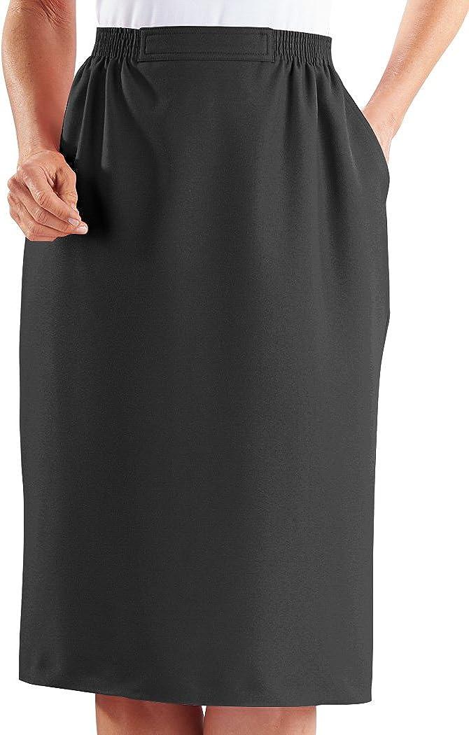 Alfred Dunner Skirt – Midi Length Flat Front Women's Skirt w/Pockets