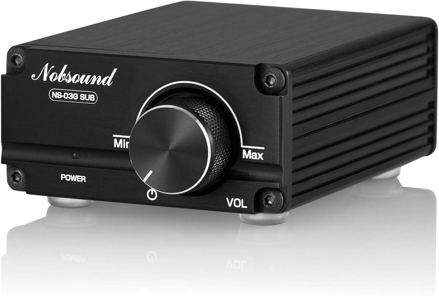 Amazon.com: Nobsound 100W Subwoofer Amplifier Digital Power Sub Amp Audio  Mini Bass Amp with Power Supply (Black) : Electronics