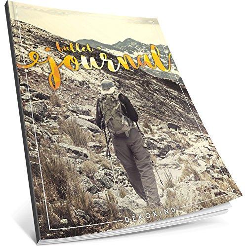 Dékokind® Bullet Journal: Ca. A4-Format • 100 Seiten, Punktraster Notizbuch mit Register • Dotted Grid Notebook, Punktkariertes Papier, Zeichenbuch • ArtNr. 21 Bergsteiger • Vintage Softcover