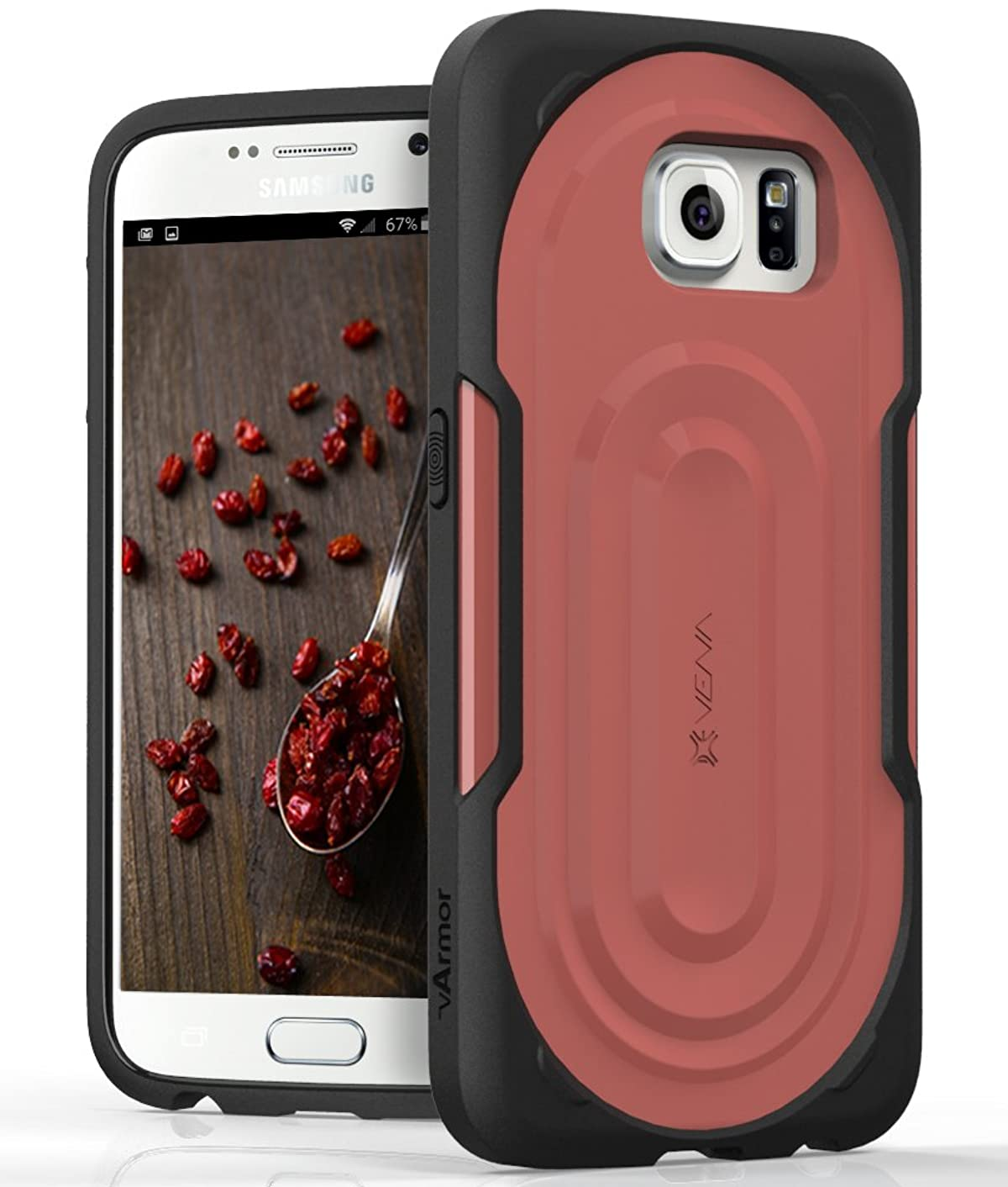Galaxy S6 Rugged Case, VENA [vArmor] Ultimate Protection [Slim | Heavy Duty] Hybrid Case Cover for Samsung Galaxy S6 (Light Gray/Cool Gray)