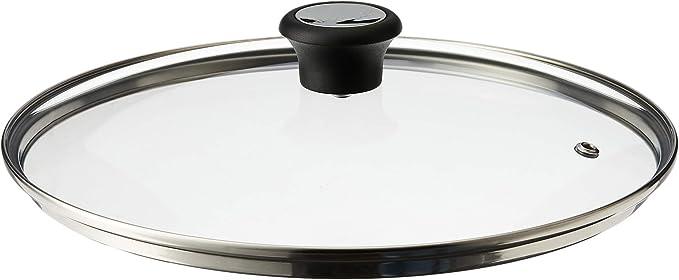 Tefal 32cm Compatible Glass Lid with Steam Vent Dishwasher Oven Safe Transparent