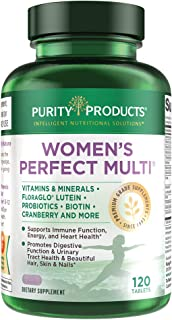 Sponsored Ad - Women's Perfect Multi by Purity Products - Balanced Multivitamin - Supports Urinary Tract Health, Immune, B...