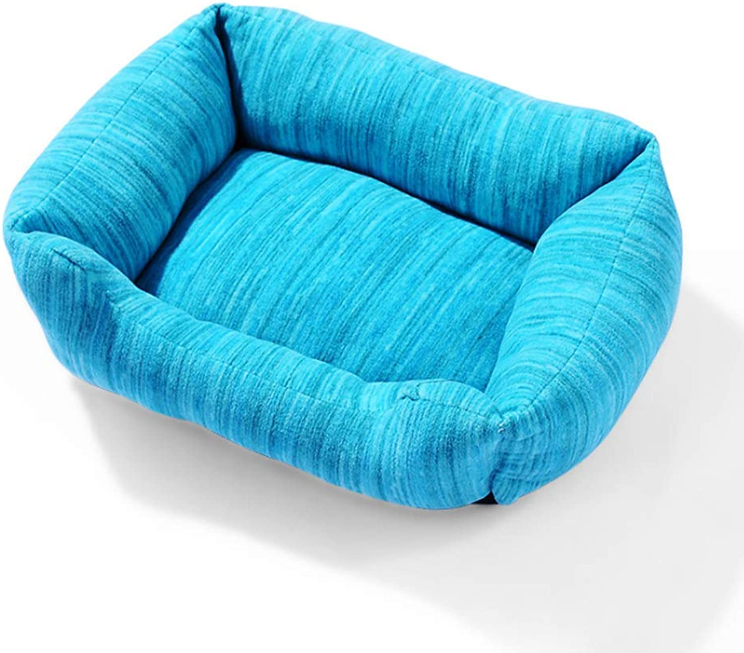 Deluxe Cat Dog Beds Houses Sofa Couch Lounge for Home and Travel,bluee,S