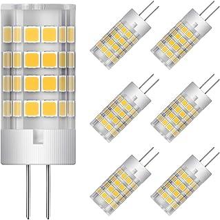 G4 LED Bulbs 5W Equivalent to 40W T3 JC Type G4 Halogen Bulb Bi-Pin G4 Base AC/DC 12V Warm White 3000K G4 LED Light Bulb N...