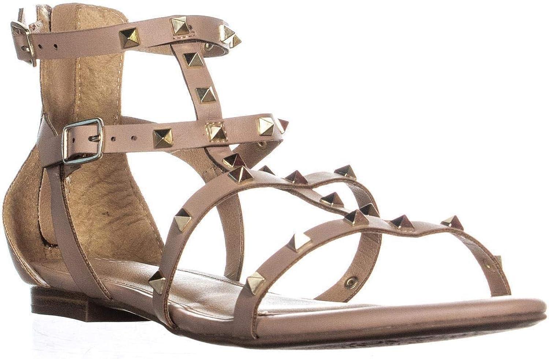 ESPRIT Womens Kiera Faux Leather Flats Gladiator Sandals
