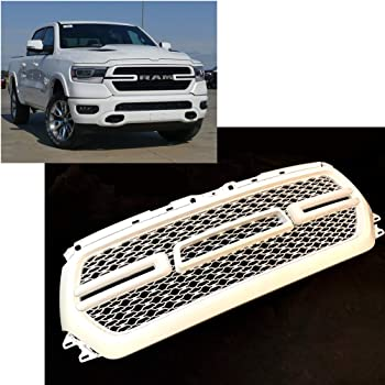 amazon com westco painted brilliant black pearl front grille code pxr for 2019 2020 dodge ram 1500 truck grill with led light and letter axr ay112axr ay97axr pxr automotive 2019 2020 dodge ram 1500 truck grill