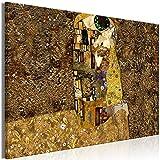 murando Quadro Mega XXXL Klimt 165x110 cm Straordinario Stampa su Tela XXXL per un Facile Montaggio Fai Da Te Grande Immagini Moderni Murale DIY Decorazione da Parete Bacio Astratto l-A-0003-ak-a